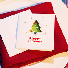 2 pcs/lot Color hollow out Christmas series card with envelope New Year greeting card message card Gift card