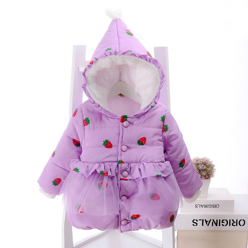 Baby Girls Toddler Winter Warm Down Jackets Coats Outwear Lace Princess tutu Strawberry Birthday Party Size for 2,3,4,5 YearsОдежда и ак�е��уары<br><br><br>Aliexpress