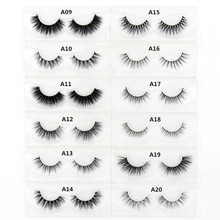 3D Mink eyelash Messy Cross Thick Natural Fake Eye Lashes Professional Makeup Bigeye Eye Lashes Handmade 1pair Glitter Packaging(China)