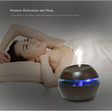 USB Ultrasonic Electric Air Freshener Essential Oil Diffuser Air Humidifier With Blue LED Light Air Freshener For Homes(China)