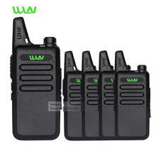 4pcs Portable Radio Set WLN KD-C1 Rechargeable Walkie Talkie UHF Handheld Two Way Ham Radio Communicator HF Transceiver Amateur