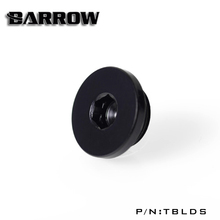 "Barrow G1 / 4 "" Black Silver Hand tighten the lock seal sealing plug water cooling computer fittings  TBLDS"