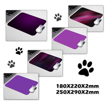 Purple Lines Computer Mousepad Gaming Padmouse Gamer Mat 22*18cm and 25*29cm