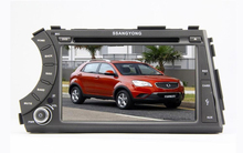 HD 1024X600 Quad Core CPU Android 5.1.1 Car DVD For Ssang Yong SsangYong Kyron Actyon Sports Korando 2005-2013 GPS Radio Stereo()