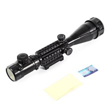 Professional Laser Scope 4-16x50 Red Green Illuminated Reticle Riflescope Sniper Scope with 20MM Rail Mounts for Hunting