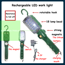Rechargeable LED Car truck work repair light with Hanging Hook Magnetic Base Auto Inspection Maintenance Lamp Garage Flashlight