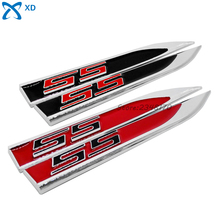 SS Logo Red Black Car Metal Sticker Emblem Blade Decal Side Fender Decoration For Chevrolet Aveo Cruze Malibu Sail Trax Camaro