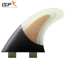 Free shipping fiberglass honeycomb bamboo FCS thruster surf fins pranchas de surf carbon sup fins Quilhas surfboard fins G5(China)