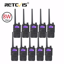 10 pcs High Power 8W Walkie Talkie Retevis Black RT5 VHF UHF Dual Band FM Radio Station VOX Long Range Two Way Radio Transceiver
