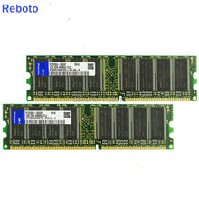 2GB 2X 1GB DDR 400 400MHz PC3200 184pin Non-ECC Desktop DIMM Memory RAMs + Free Shipping