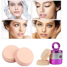 New 3D Electric Smart Foundation Face Powder Puff Vibrating Make up Foundation Applicator Tool Boxed With 2 Extra Puffs(China)