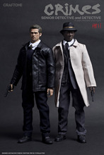 "1/6th collectible figure doll Se7en Detective Morgan Freeman & Brad Pitt 12"" action figure doll price for one. not include chair(China)"