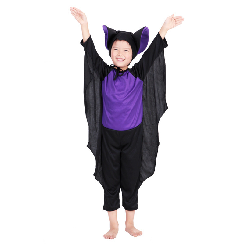 Halloween costume cosplay dance performances for children dress up props Siamese bat suit 228g|cosplay mask|costume fascinatorcostum |