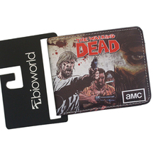 Ultra-slim Leather Cartoon Wallets Digital Printing Horror TV THE WALKING DEAD Purse Wallet For Teens Casual Color Wallet Walet(China)