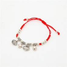 7 Colors Austrian Crystal jewelry thin red thread string rope Charm Bracelets for women Fashion summer style(China)