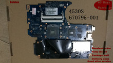 Replacement Laptop Motherboard For HP ProBook 4530S 4730S laptop motherboard 670795-001 TEST OK(China)