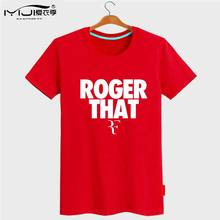 2017 Summer T-Shirt Men Printed Roger Federer Brand Clothing Pure Cotton Short Sleeve Tee Shirt Streetwear Rock T Shirt T19 Z45