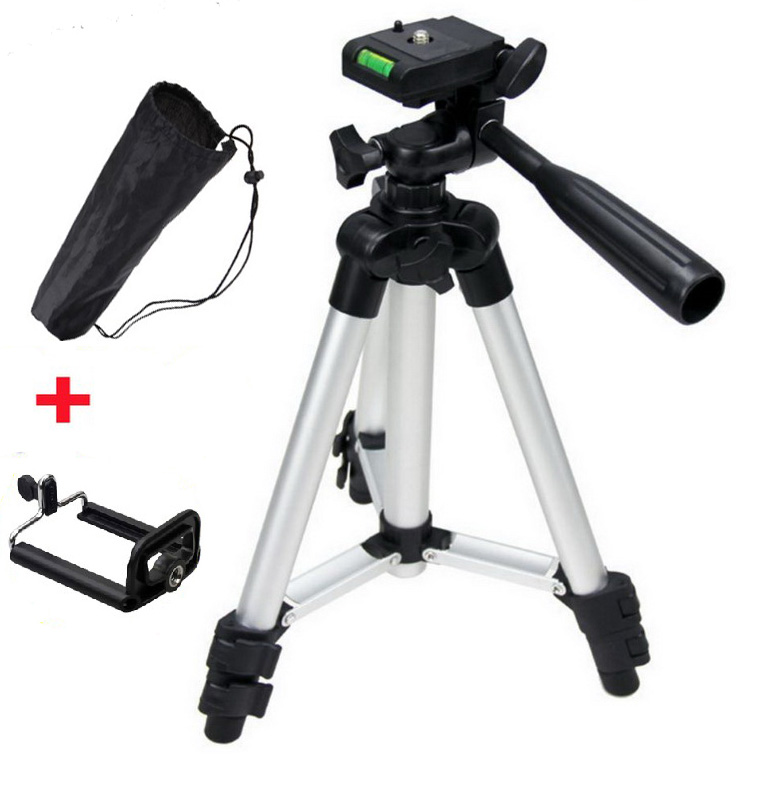 Aluminum Professional Telescopic Camera Tripod Stand Holder For Digital Camera Camcorder Tripod For iPhone Samsung Smart Phone(China (Mainland))