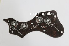 Free shipping 2 Pcs Red Shell Hummingbird Flower Folk Acoustic Guitar Pickguard Pick Guard Anti-scratch Plate In Left Hand