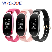 NIYOQUE Bluetooth Smart Band S3 Vibrating Fitness Tracker Heart Rate Monitor Wristband Waterproof Smart Bracelet For Women Girl(China)
