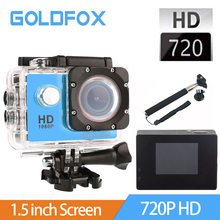 GOLDFOX 720P HD Sport Video Action Camera Go Diving Pro 30M Waterproof Sport DV Bike Helmet Mini Camera With Retail Packing