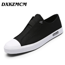 2017 Men Flats Shoes Breathable Fashion Men Casual Canvas Shoes Zapatos Hombre(China)
