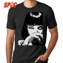 Buy Sweat T Shirts Pulp Fiction Mia Wallace T-Shirts Men Male Cotton Tees Great Discount Teenage Tees Short Sleeve for $11.70 in AliExpress store
