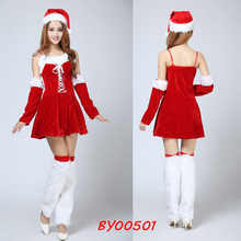 Variety Of Style Optional Sexy Adult Christmas Elf Outfit Santa Miss Dress Nifty Cute Sweetheart Miss Halloween Cosplay Costumes
