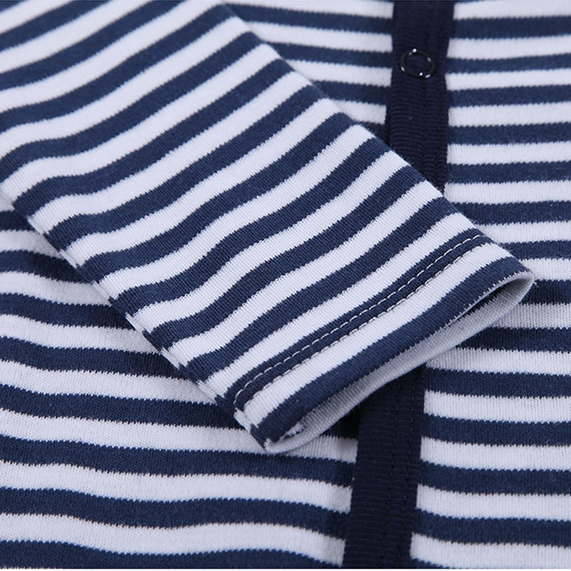 Baby Boys Girls Long Sleeve Rompers 2016 Autumn and Winter Newborn Boys Striped Jumpsuit Infant Baby Clothing Retail (3)