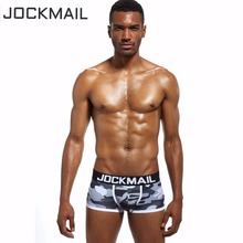 Buy JOCKMAIL brand mens underwear boxer Trunks Sexy Camouflage panties men Boxer Shorts Gay Penis Pouch underpants gay underwear