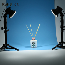 2 piece LED lamp photography studio light bulb portrait soft box fill light lights bulb and 2*37CM light stand(China)