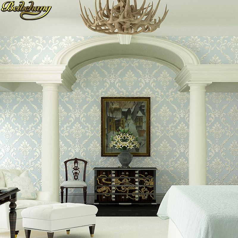 beibehang Damascus relief 3D wallpaper background papel de parede 3d wallpaper for living room wall papers home decor bedroom<br>