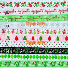 New Christmas Tree Printed headbands Hair Accessory spandex FOE elastic by 100yards per item =1roll=1 lot