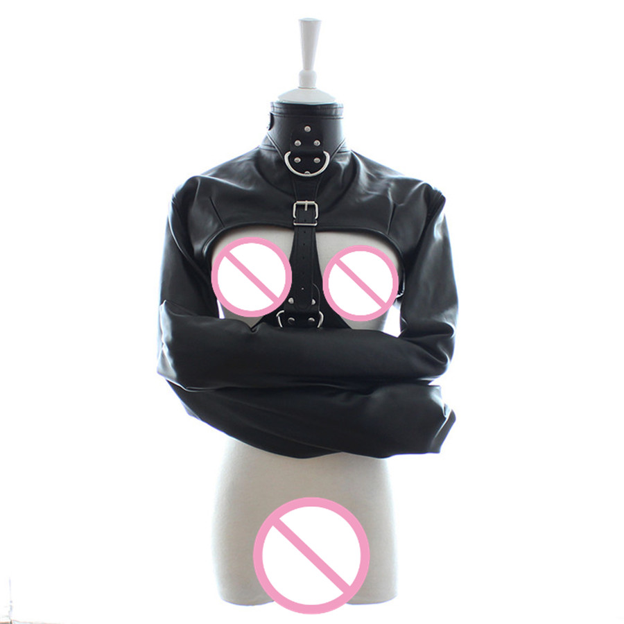 Sex Women Toy Straitjacket Adult Couple Games Straight Jacket Adjustable Fetish Customer Harness Body Bondage Dress 302001169<br>