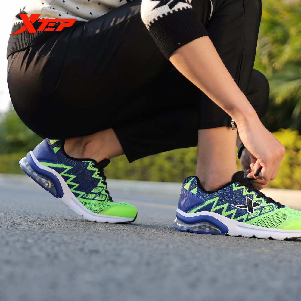 XTEP Brand Running Shoes for Men Air Meah Breathable Athletic Sneakers Outdoor Sports Shoes Trainers Mens Shoes 984419119383<br>