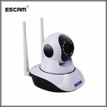 ESCAM G02 WiFi IP IR Camera Dual Antenna 720P Pan/Tilt Support Two Way Audio ONVIF Max Up to 128GB Security Wireless Camera(China)