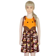Newest Halloween Girls Pumpkim Dress Cartoon Thanksgiving Paragraph Sling Princess Dress(China)