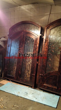 "Custom design 72"" x 98"" custome design double wrought iron doors iron front doors Jan7"