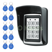 Metal Waterproof Access Control 125KHz RFID Card Reader Keypad With 10 Keys With Rain Cover For Door Access Control System(China)