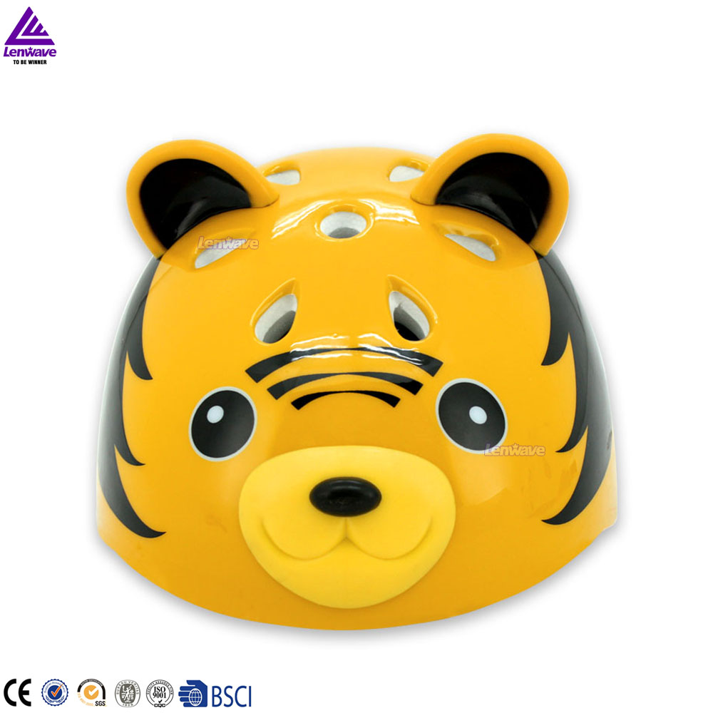 Skate helmet with ears cute tiger animal design for children bicycle helmet EPS material adjustable cycling helmet <br><br>Aliexpress