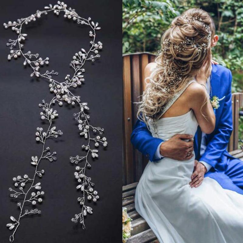 Idealway-Handmade-Bridal-Crystal-Rhinestone-Hair-Piece-Women-White-Simulated-pearl-DIY-Jewelry-Wedding-Tiaras-Crown