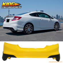 For 2012-2013 Honda Civic Coupe Si Only HF-P Style Rear Aprons Lip - Polyurethane (PU)