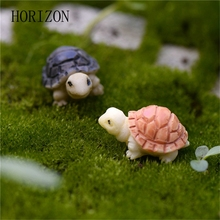 Mini Tortoise Model Fairy Garden Miniatures DIY Doll House  Terrarium Home Desktop Succulents Micro Landscape Decoration 2pcs