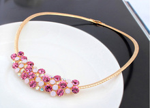 Hot Crystals from Swarovski Choker Necklace Luxury Statement Necklaces For Women Trendy Shiny Accessories Fashion Jewellery