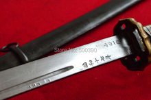 WWII HandMade Japanese Nco Sword Samurai Katana Brass Handle Steel