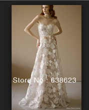 AW085 Magic Alibaba Flowers Lace  Wedding Dress Patterns