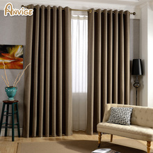 Modern Curtains Solid Color Window Shades Linen Blackout Fabric Window Treatment Living Room Custom Made Curtains