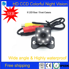 2017 New car camera 8 LED light small sun reversing image high-definition night vision universal headband lamp Rear/ front view(China)