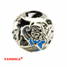 Fit Pandora Bracelets Alice's Tea Party Beads with Mixed Enamel Authentic 925 Sterling Silver Charms Jewelry Making CK340(China)