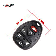 Transmitter 6 Buttons Fob Remote Keyless Entry Key Case Shell For Chevrolet Suburban Tahoe GMC Yukon Cadillac Escalade KEY-C-13(China)